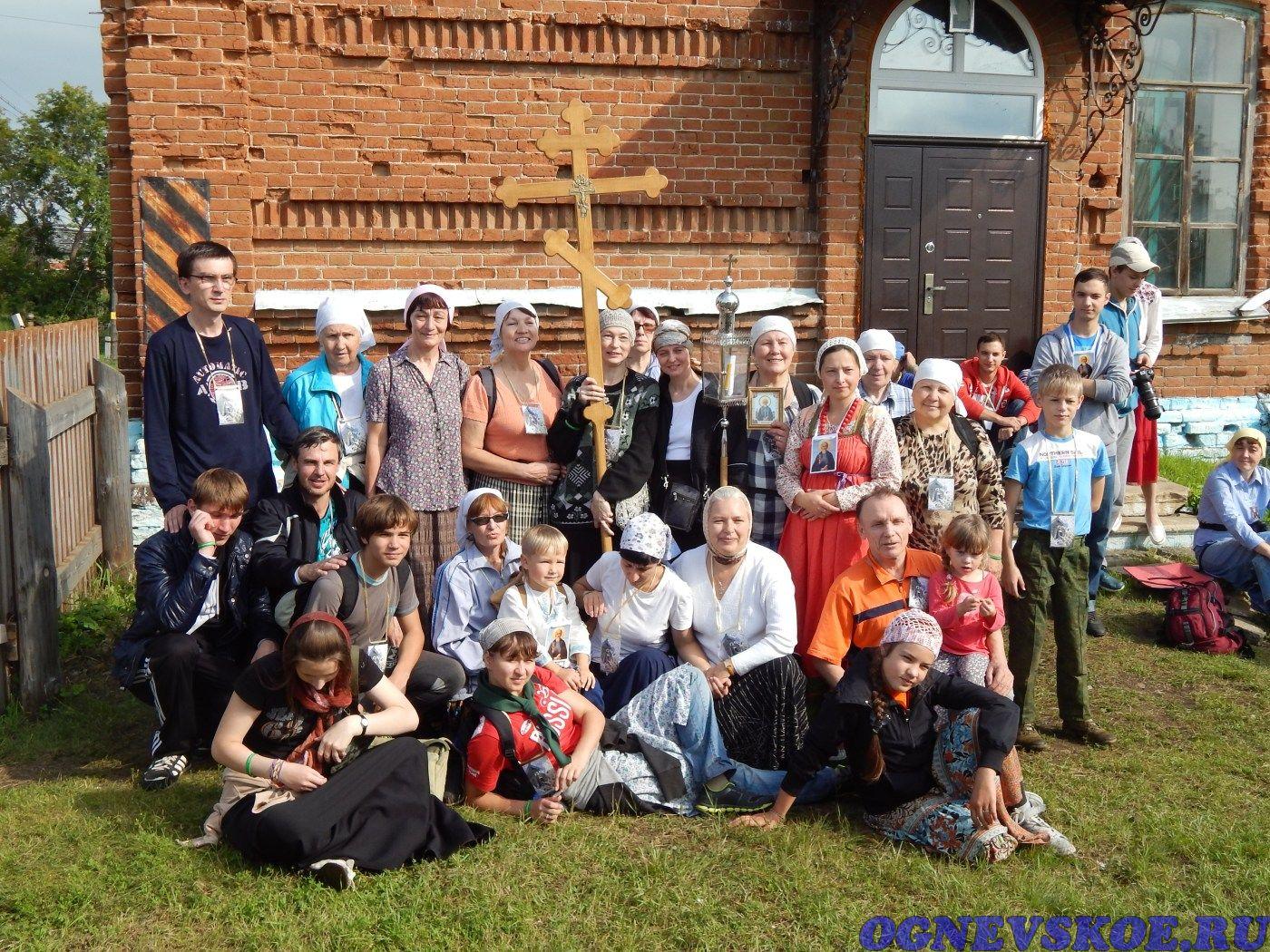 Участники Крестного хода 4 августа 2014 года из села Огнёвское в село Багаряк (23.11.2014)